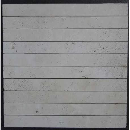 Travertine Classico Unfilled Honed Mosaic 300x30