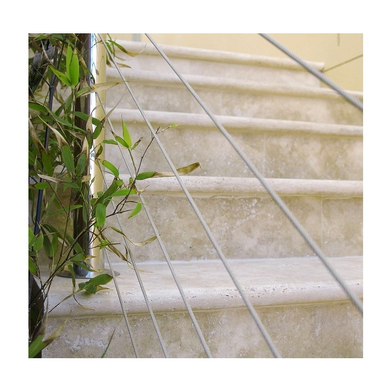 Travertine Classico Step Treads - Cross Cut - Unfilled & Honed