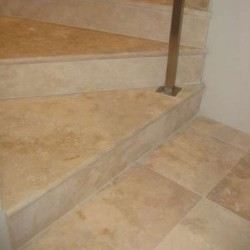 Classico Step Riser Epoxy Filled Honed Travertine