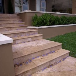 Noce Step Riser Epoxy Filled Honed Travertine