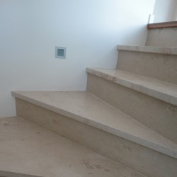 New Botticino Step Riser Honed Marble