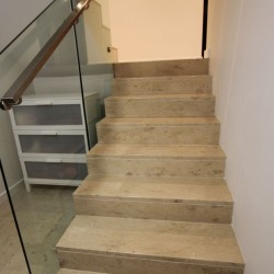 New Botticino Step Tread Honed Marble