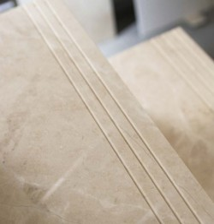 Bianca Perla Step Treads & Risers Limestone- Honed