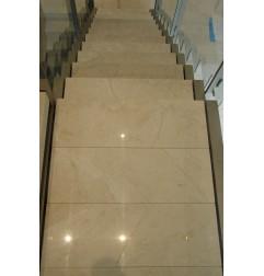 Bianca Perla Step Treads & Risers - Limestone - Honed