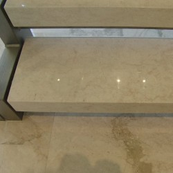 Bianca Perla Step Tread Polished Limestone