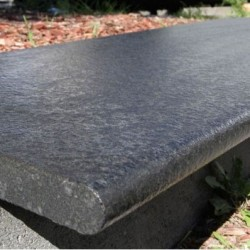 Diamond Black Flamed Bullnose Step Tread Granite
