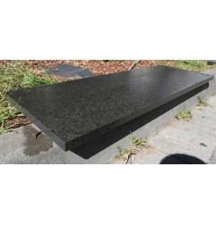 Diamond Black Step Tread Flamed Granite