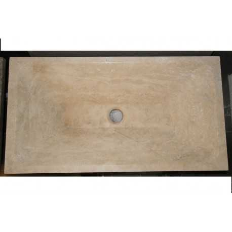 Natural Stone Classico Basins Travertine - Rectangle Basin - Honed - Rectangle Angle Basin - Honed