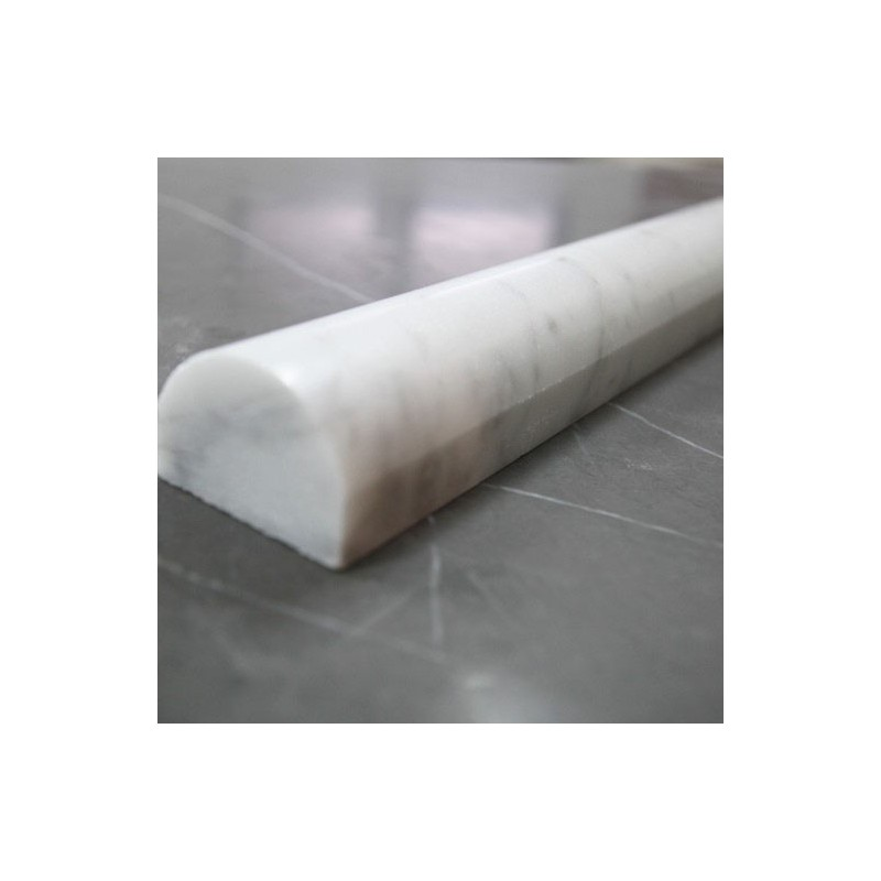 Carrara Honed Pencil Border Marble