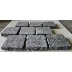 Diamond Black Flamed Brick Pattern Cobblestone Granite