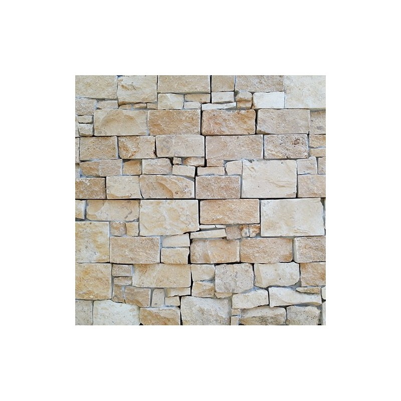 Alpine Beige Rock Panel Interlocking Limestone Wall