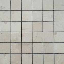 New Botticino Honed Marble Mosaic 50x50