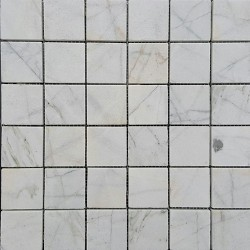 Persian White Honed Marble Mosaic 50x50