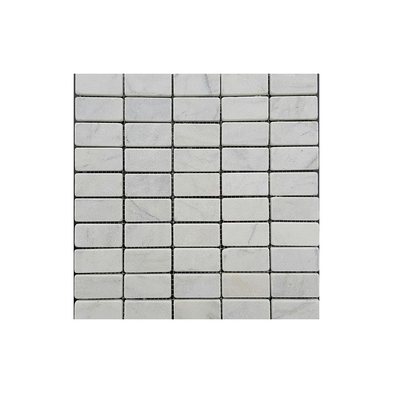 Persian White Tumbled Marble Mosaic 60x30