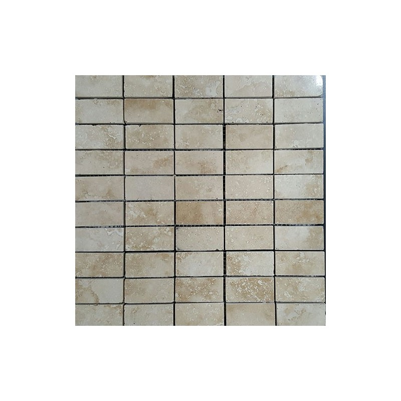 Classico Filled Polished Mosaic Travertine 60x30