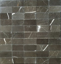 Pietra Grey Polished Limestone Mosaic 60X30
