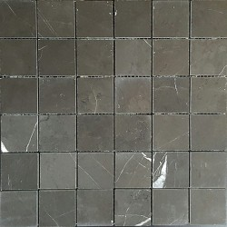Pietra Grey Honed Limestone Mosaic 50x50