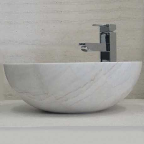 Bianca Luminous Marble - Round Basin - Polished