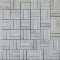 Bianca Luminous Roma Pattern Polished Marble Mosaic 50x15
