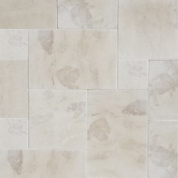 New Botticino French Pattern Tumbled Paver Marble