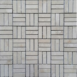 New Botticino Roma Pattern Polished Marble Mosaic