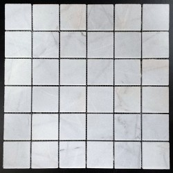 Bianca Luminous Honed Marble Mosaic 50x50