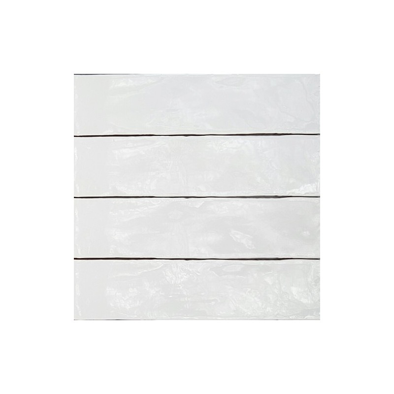 Spanish Handmade Super White Gloss Ceramic 300x75