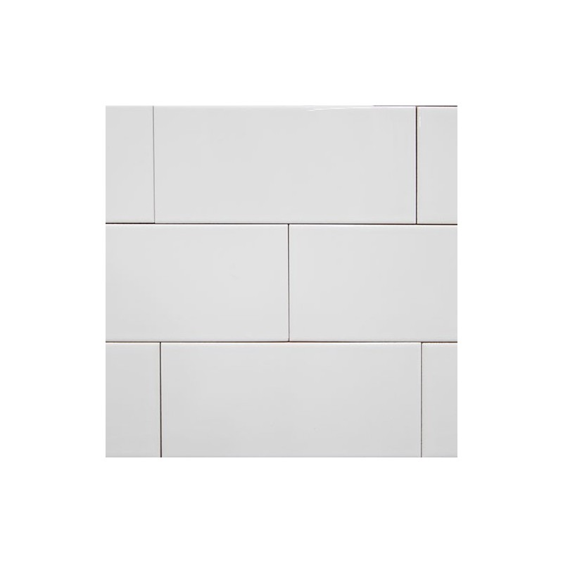 Spanish White Gloss Non-Rectified Subway Ceramic 200x100