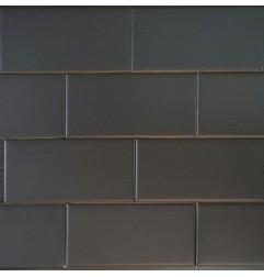 Black Matt Non-Rectified Subway Ceramic 150x75