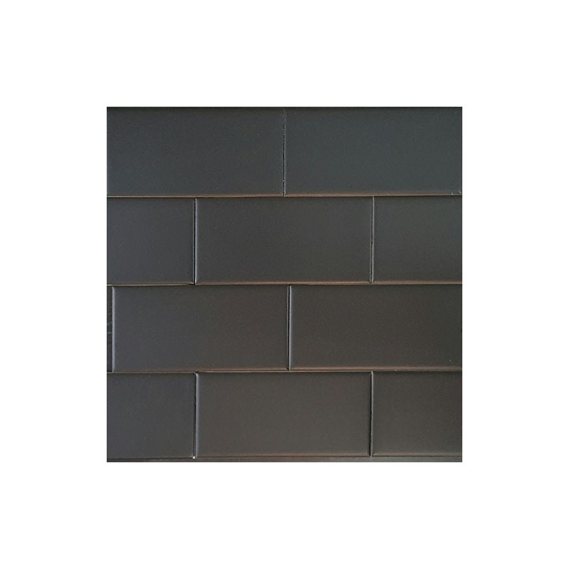 Black Subway Tile black matt subway tile non-rectified ceramic
