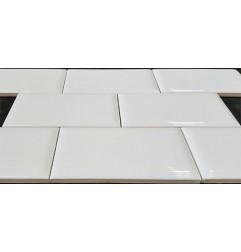 Spanish White Gloss Semi Round Subway Ceramic 150x75