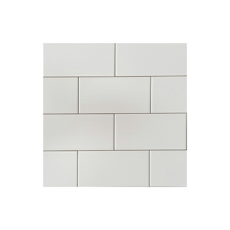 White Matt Non-Rectified Subway Ceramic 150x75