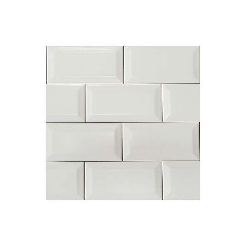 White Matt Bevelled Subway  Ceramic 150x75