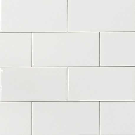 Spanish White Gloss Non-Rectified Subway Ceramic 150x75