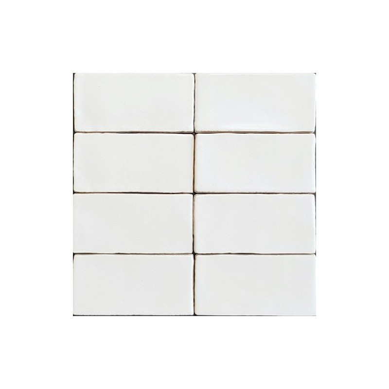 Spanish Handmade Super White Gloss Ceramic 150X75