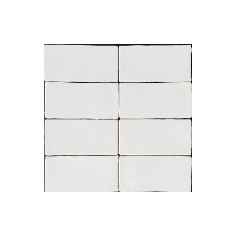 Spanish Handmade Super White Matt Ceramic 150x75