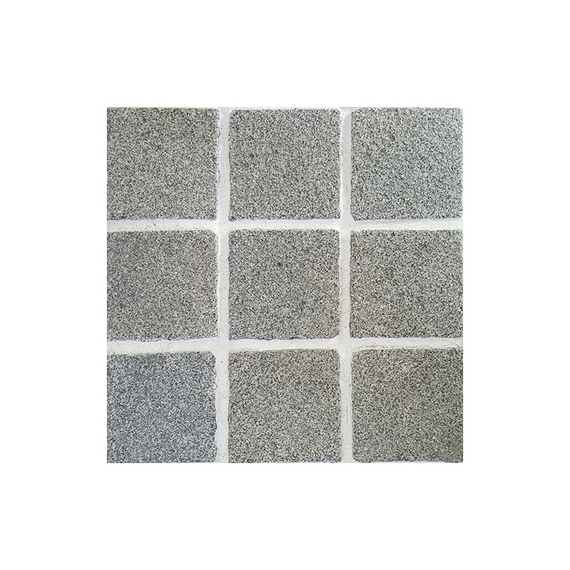 Diamond Grey Flamed Straight Pattern Cobblestone Granite