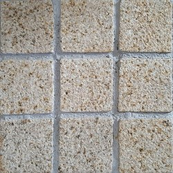 Diamond Gold Bush Hammered Straight Pattern Cobblestone Granite