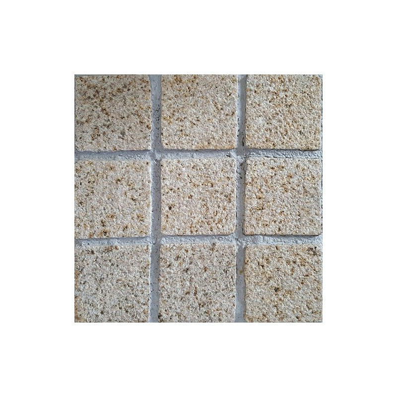 Diamond Gold Hammered Straight Pattern Cobblestone Granite