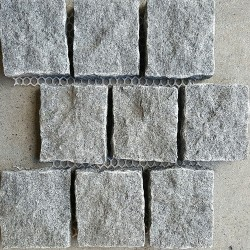 Diamond Grey Natural Split Brick Pattern Cobblestone Granite