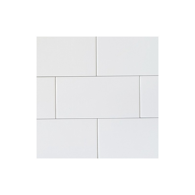 White Gloss Non-Rectified Subway Ceramic 200x100