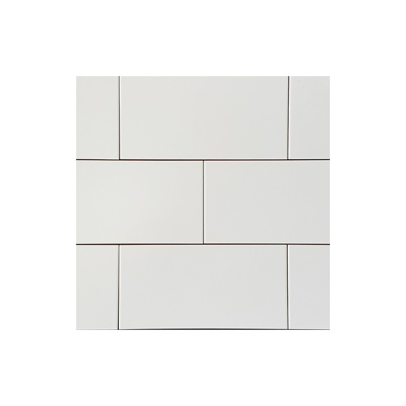 Spanish White Matt Non-Rectified Subway Ceramic 200x100