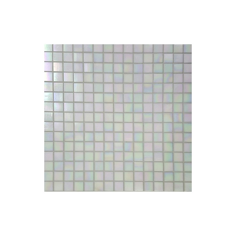 Mosaic Corp Pearly White Italian Glass Mosaic Tiles