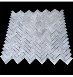 Carrara Herringbone Honed Marble Mosaic 64x20