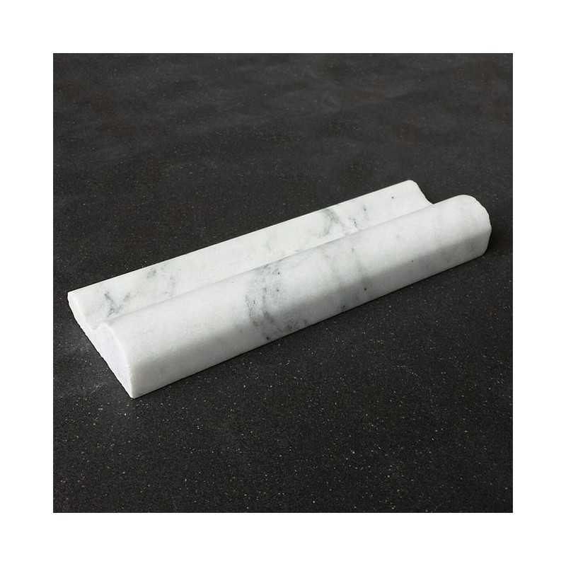 Persian White Honed Bullnose Capping Marble