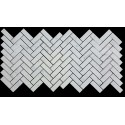 Carrara Herringbone Honed Marble Mosaic 25x75