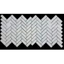Carrara Herringbone Honed Marble Mosaic 25x75