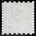 Calacatta Gold Hexagon Honed Marble Mosaic 48x48