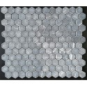 Pietra Grey Hexagon Tumbled Limestone Mosaic 42x42