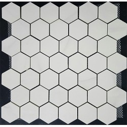 Hexagonal Statuario Matt Porcelain Mosaic 48x55
